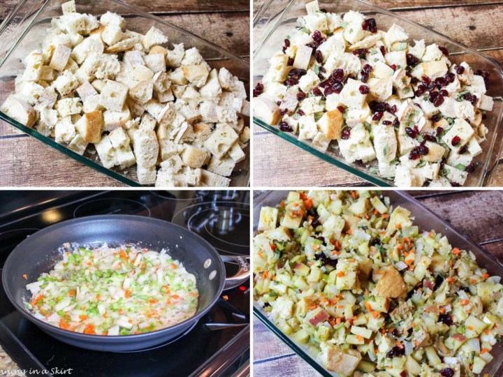 Process photos for the best vegetarian stuffing.