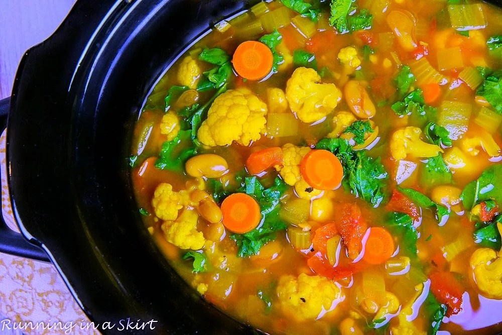 Crock Pot Vegetarian Detox Soup