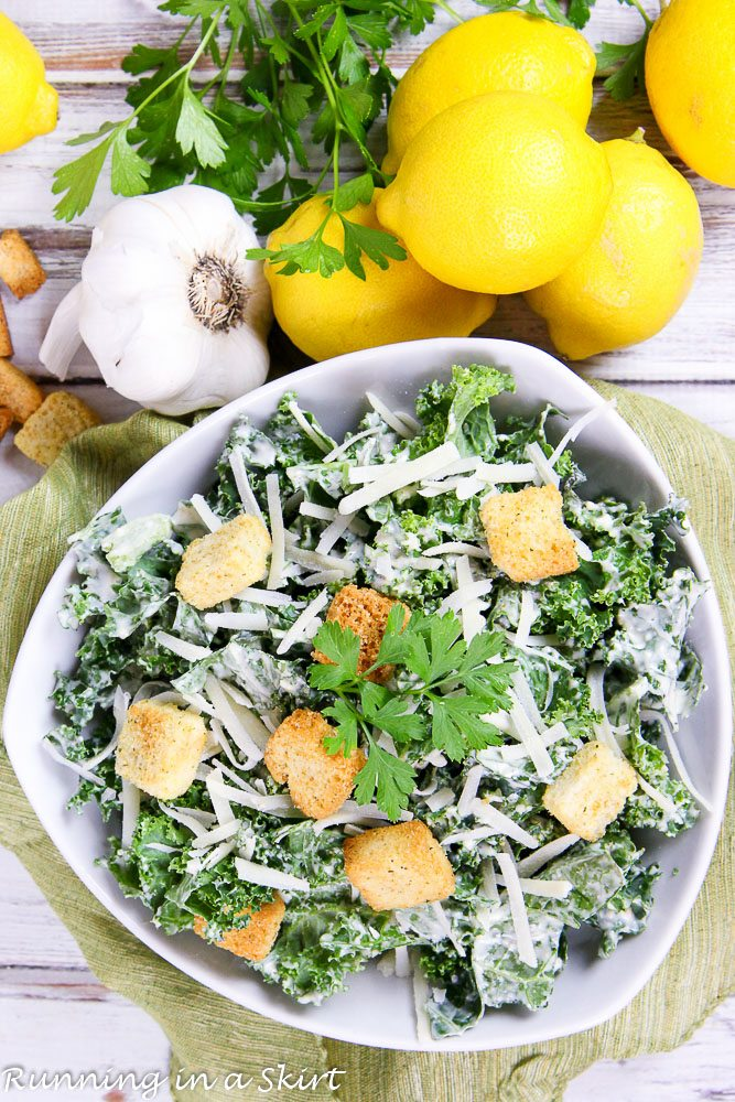 Healthy Kale Caesar Salad recipe