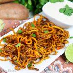 Baked Curly Sweet Potato Fries recipe