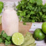 Greek Yogurt Healthy Chipolte Lime Ranch Dressing recipe / Running in a Skirt