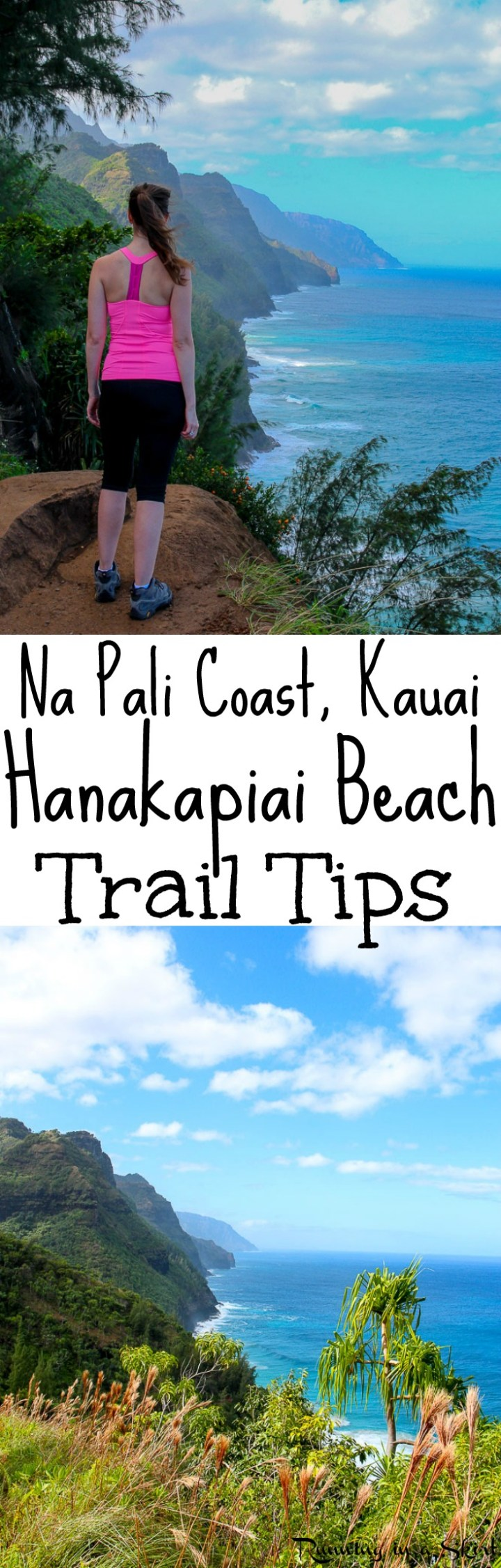 Tips for the Hanakapiai Trail on the Kalalau Trail in Kauai. This is one of the most beautiful hiking trails in Kauai, if not all of Hawaii. If you are doing any Kauai Hiking on the north shore and up for an adventure you have to do this! Includes photography of the entire journey and take aways. Total bucket lists trips to Hanakapiai Beach. / Running in a Skirt via @juliewunder