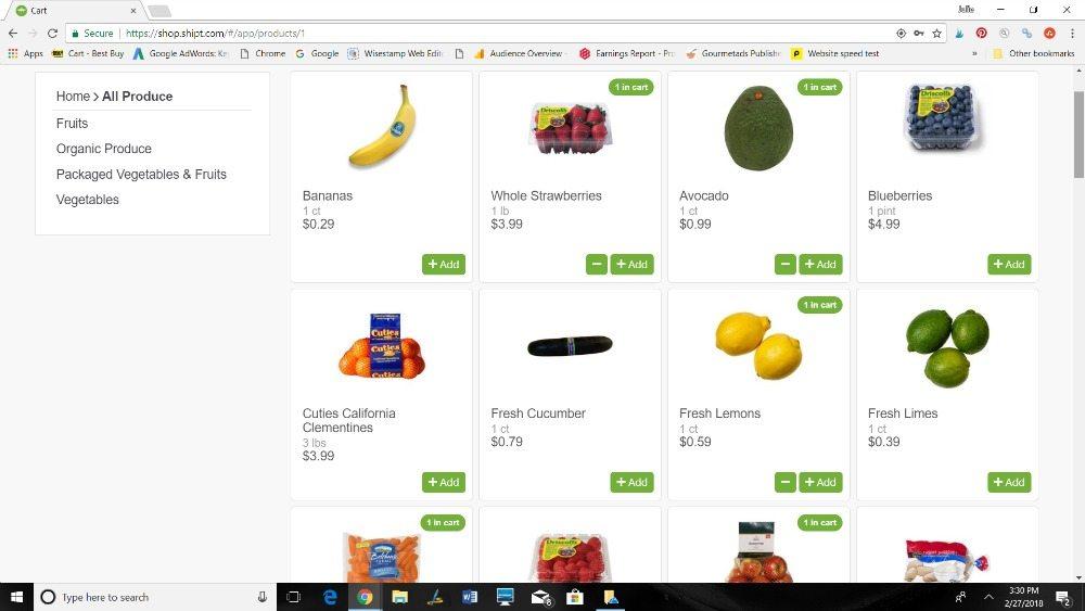 Shipt - Vegetarian Clean Eating Grocery List