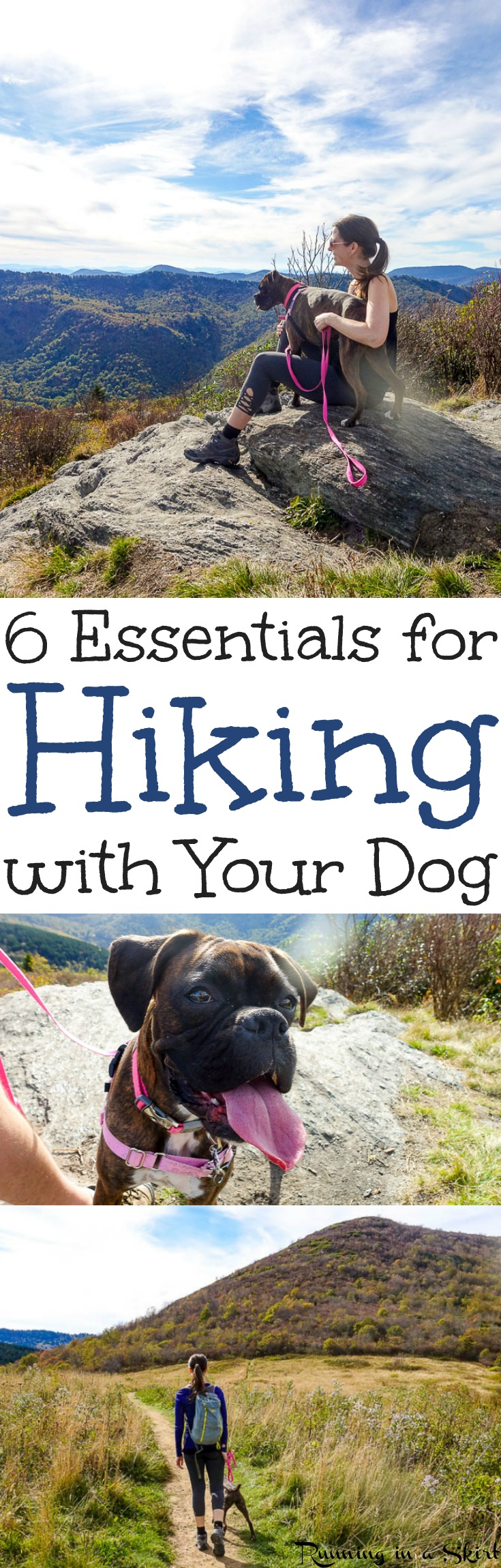 6 Essential Tips for Hiking with Dogs. -  including things to do and thoughts for keeping your pet safe. Includes trail training and backpacking for a fun and awesome time on local trails, National Parks in the U.S. States in fall, summer, winter and spring!  Gorgeous wanderlust photography! / Running in a Skirt  via @juliewunder
