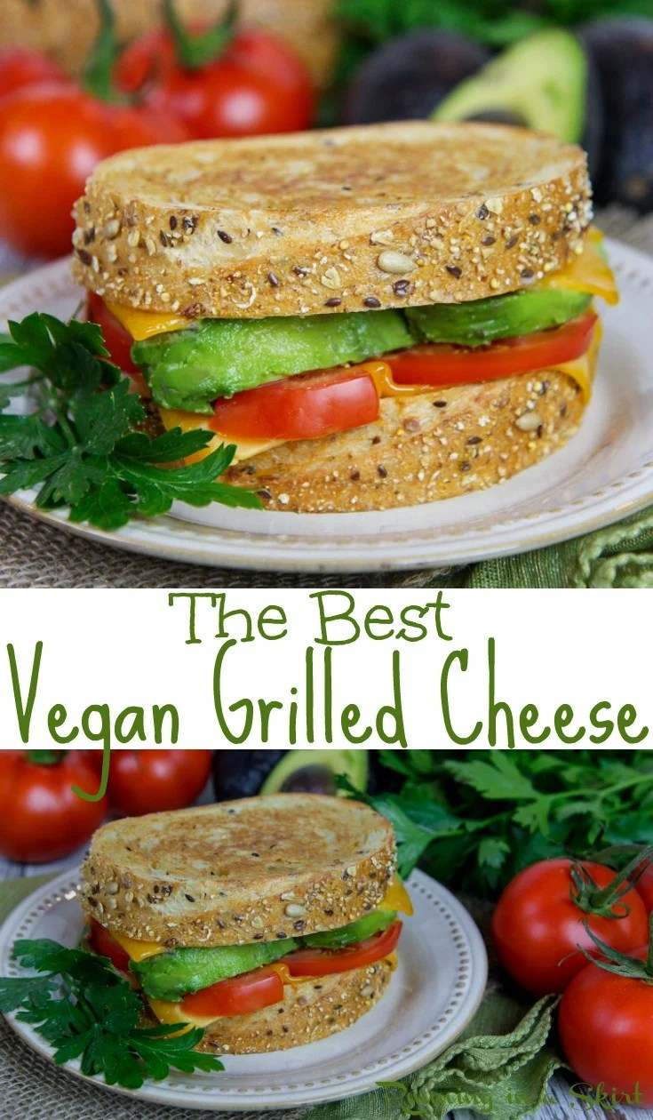 The Best Homemade Vegan Grilled Cheese recipe - this easy dairy free sandwich uses veggies like avocado and tomato and a plant-based butter spread!  The perfect alternative comfort foods for lunches or dinners.  / Running in a Skirt AD @publix #PureBlendsPureFlavor #vegan #healthy #dairyfree #recipe via @juliewunder
