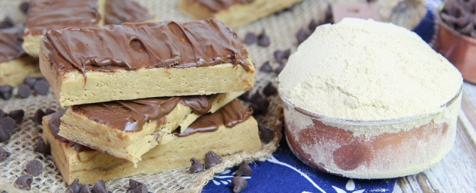 No Bake Homemade Peanut Butter Protein Bars recipe