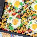Sheet Pan Sweet Potato Hash with Eggs recipe