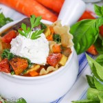 Crock Pot Vegetarian Lasagna Soup recipe