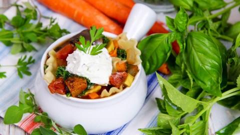 Crock Pot Vegetarian Lasagna Soup recipe