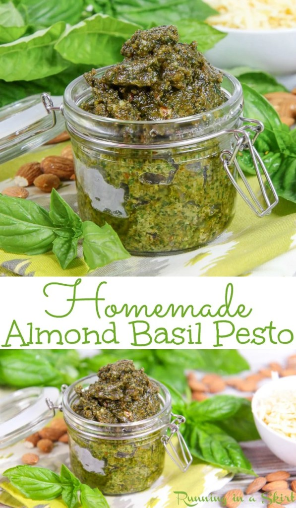 Homemade Basil Almond Pesto recipe