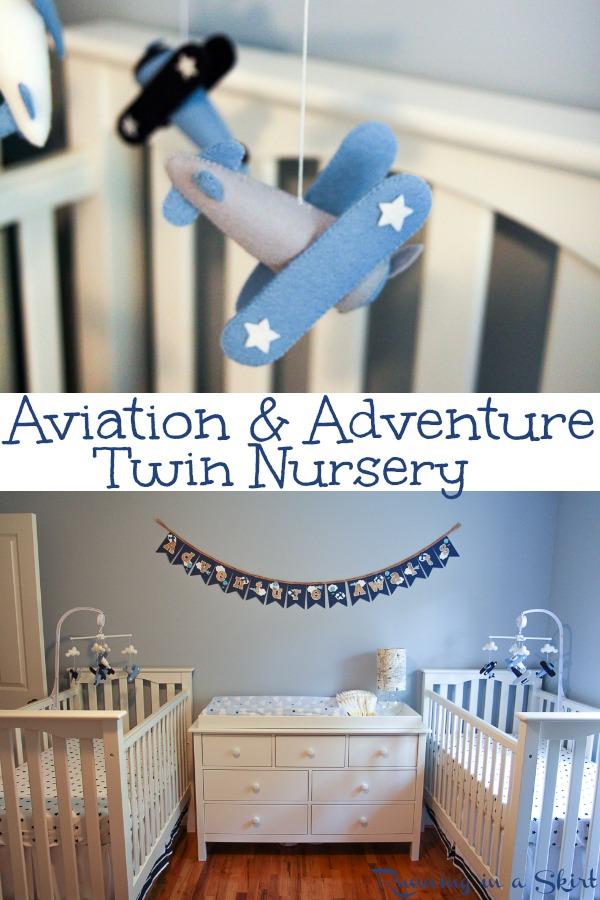 The Twins Aviation Themed Nursery via @juliewunder