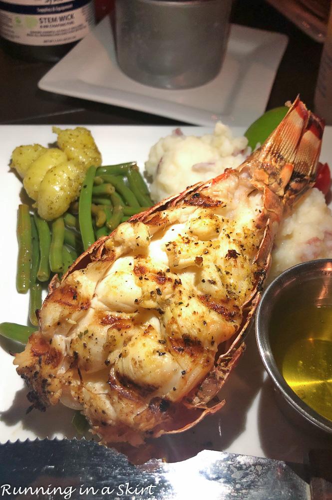 Lobster at the Abaco Inn.