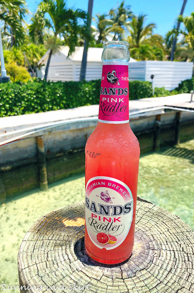 Pink Sands Beer at Dock and Dine