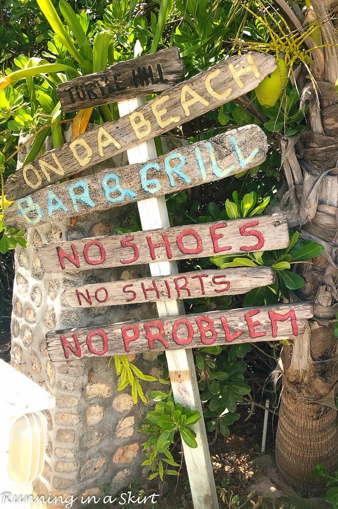 What to do in Hope Town Bahamas visit On Da Beach Bar and Grill.