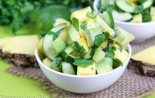 Avocado Pineapple Cucumber Salad recipe