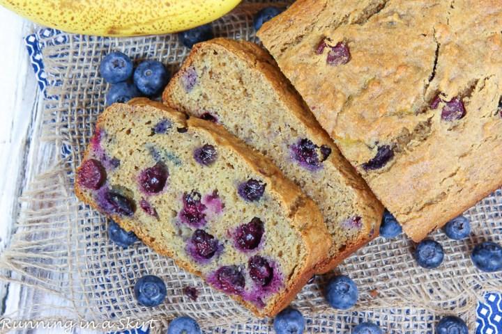 Healthy Blueberry Banana Bread recipe