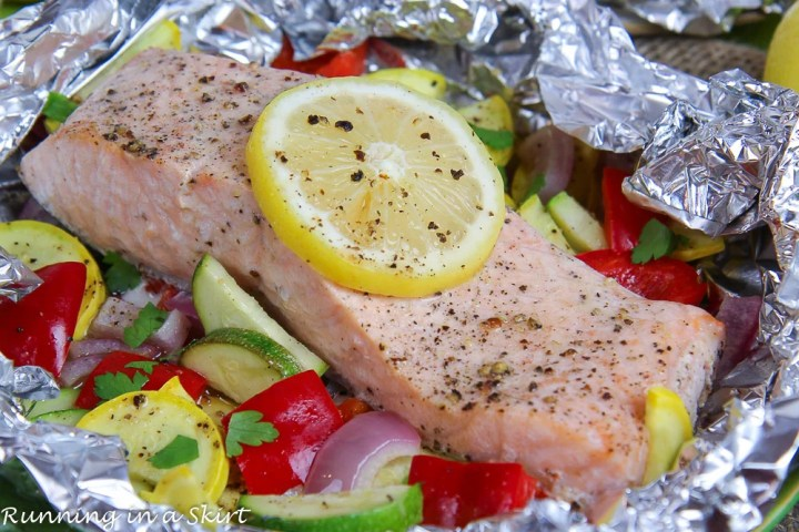 Salmon Foil Packets with Vegetables
