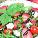 Copycat Panera Strawberry Caprese Salad recipe-