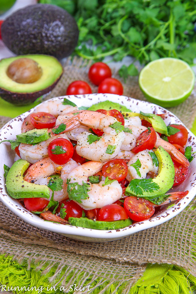 Shrimp Avocado Lime Salad recipe