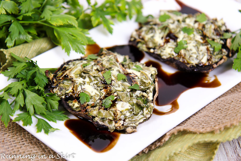 Spinach and Goat Cheese Stuffed Portobello Mushrooms