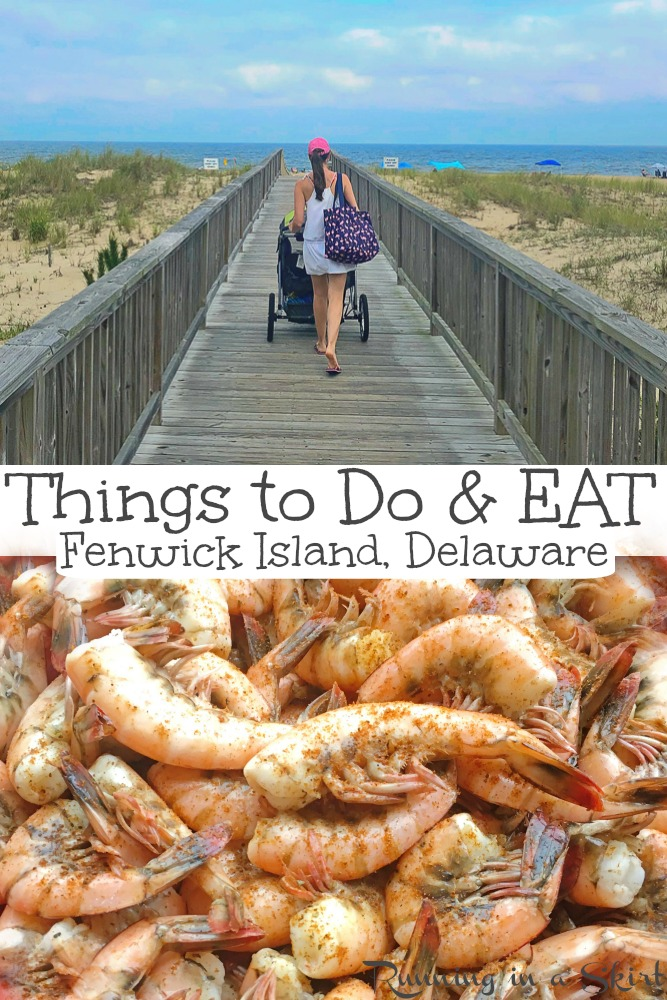 Things to Do & Eat on Fenwick Island, Delaware including the best beaches (Fenwick Island State Park), restaurant ideas, seafood, places to watch beautiful sunsets, sunrises and lighthouses. Perfect ideas for families on vacations near Ocean City Md - Maryland! / Running in a Skirt #travel #beaches #delaware #fenwickisland #travelblogger via @juliewunder