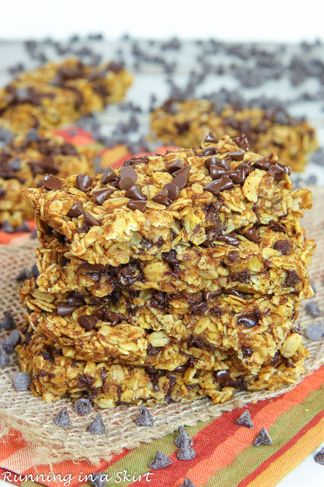 Pumpkin Oatmeal Chocolate Chip Bars recipe