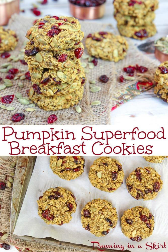 Pumpkin Superfood Cookies recipe via @juliewunder
