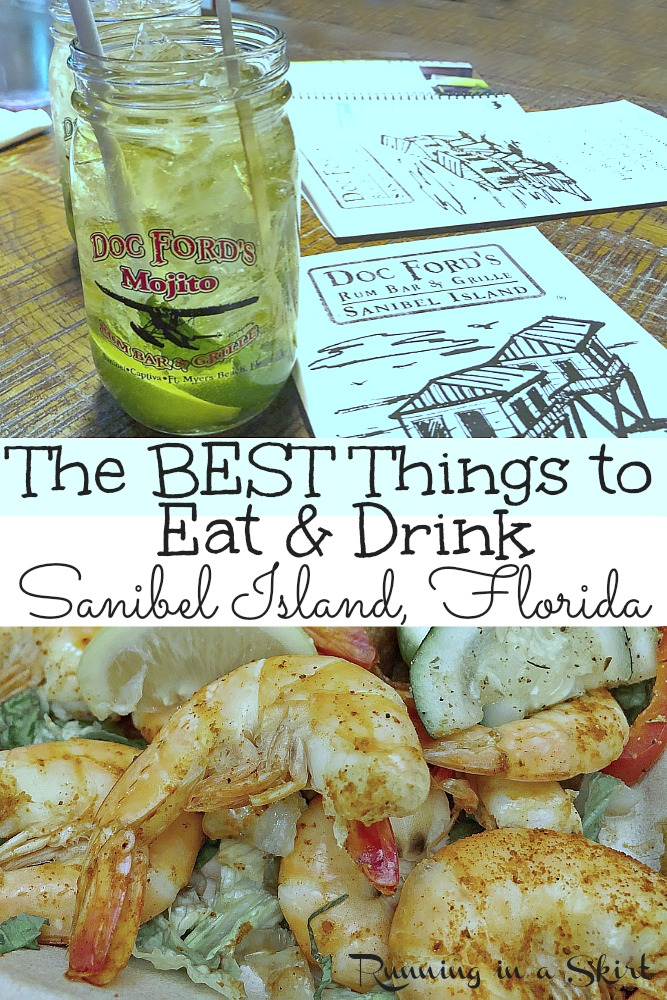 The best restaurants, food and drinks on Sanibel Island, Florida. Includes Doc Ford's, Lazy Flamingo, Gramma Dot's and the Farmer's Market. Start here to figure out things to do on Sanibel and where to eat! / Running in a Skirt #Florida #sanibel #travel #travelguide #beach #seafood #wanderlust #foodie via @juliewunder