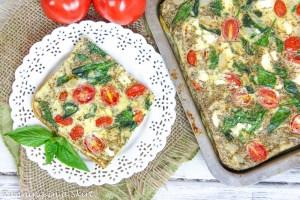 tomato, basil and eggs