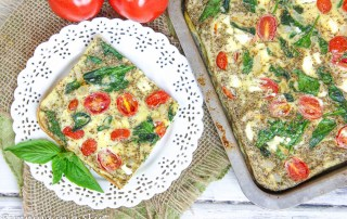tomato, basil and eggs