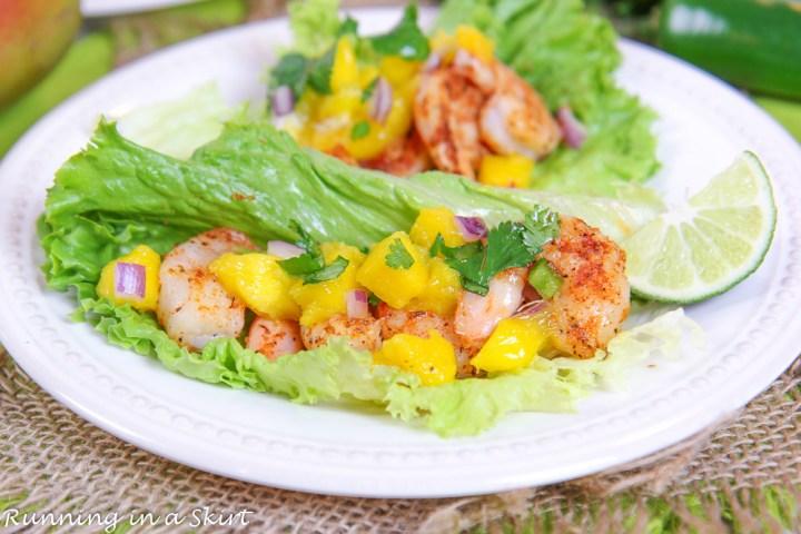 Shrimp Lettuce Wraps on plate.