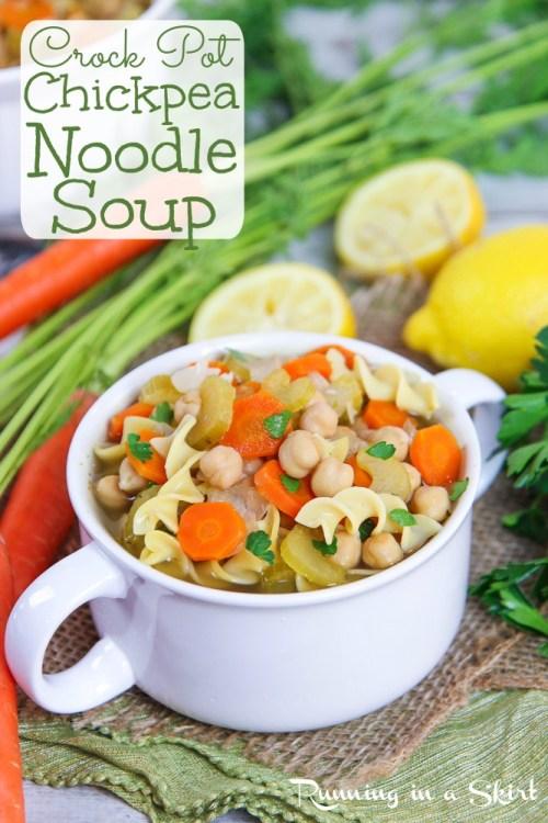 Crock Pot Chickpea Noodle Soup recipe