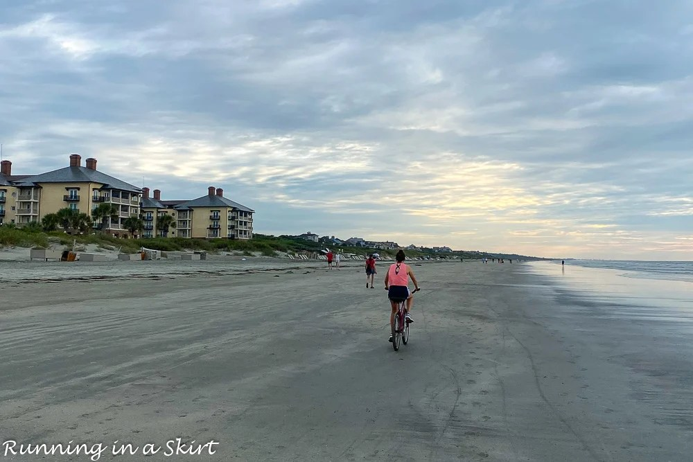 Biking on Kiawah Island.