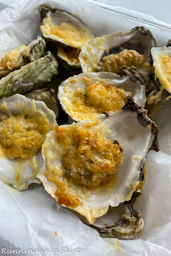 Shuckers chargrilled oysters