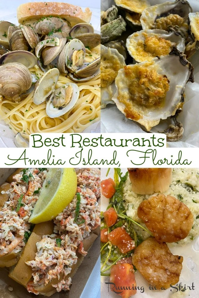 Best Amelia Island Restaurants - best places to eat on Amelia Island Florida and Fernandina Beach Florida. Including great seafood, fine dining, Italian, breakfast, beach eats and takeout options. A foodies guide to island eats! / Running in a Skirt #florida #floridatravel #ameliaisland #travelblogger via @juliewunder