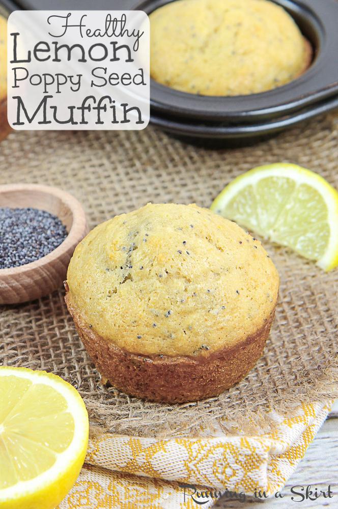 Healthy Lemon Poppy Seed Muffin Pinterest Pin