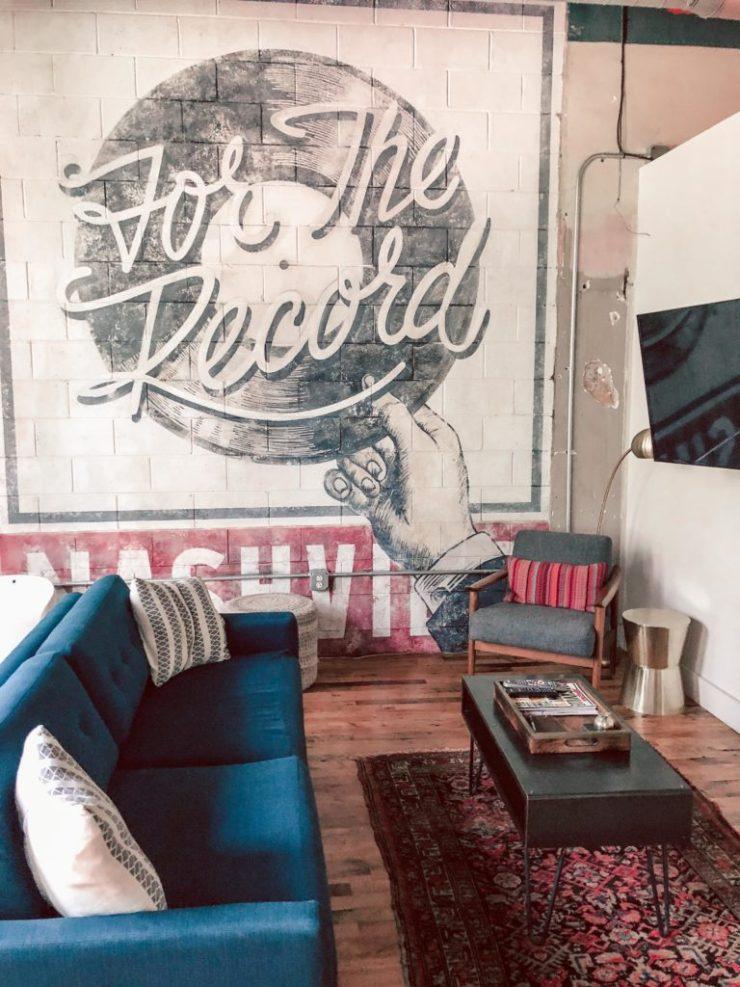 506 lofts, living room, Monkey Bar room, Nashville