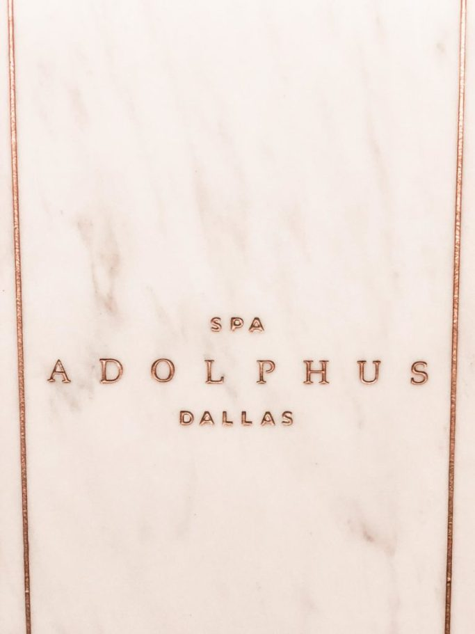 His and Hers Pampering at the Adolphus, Adolphus spa lobby.