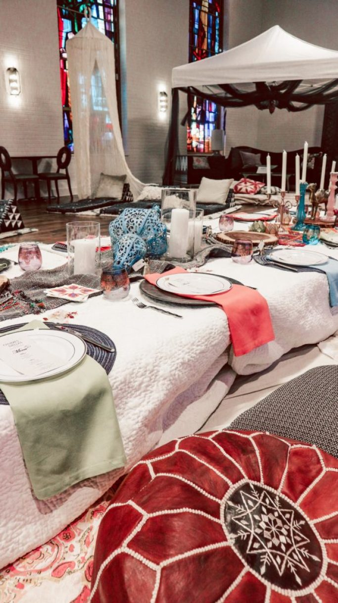 Chijmes, A Dallas Boutique Hotel | Running in Heels | Moroccan themed dinner party | moroccan themed decor