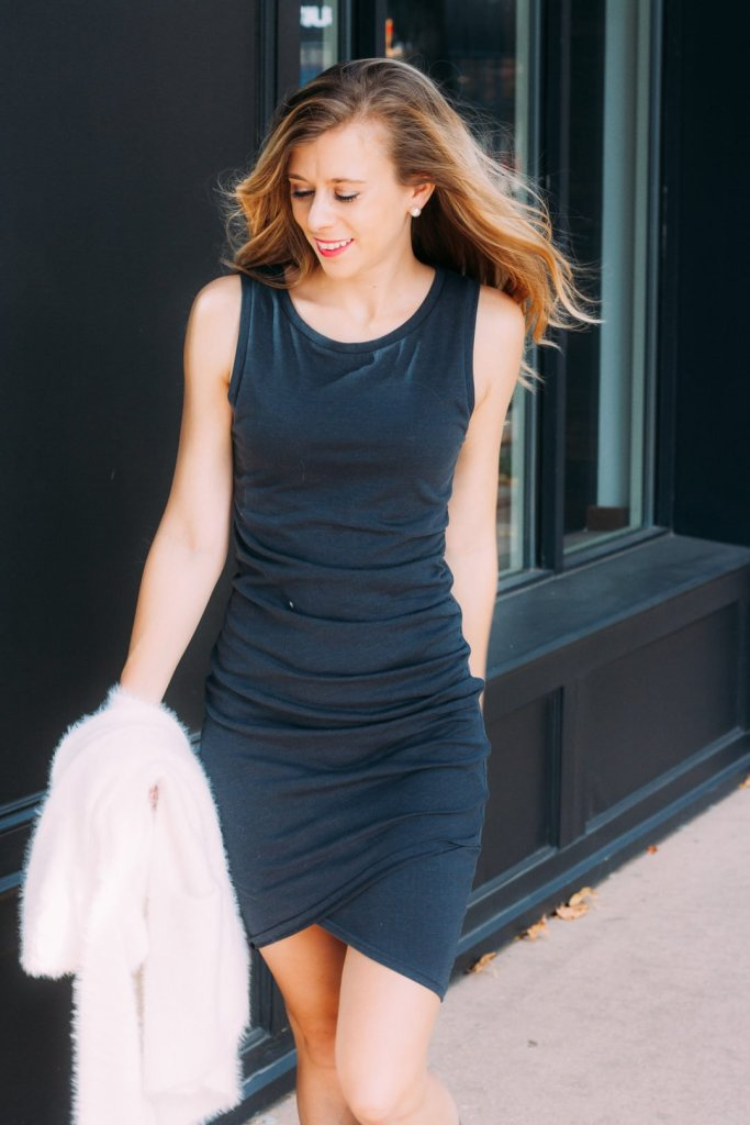 Nordstrom_Leith_Ruched_Dress | Dallas Fashion Blogger