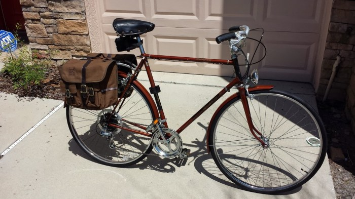 Cleaned up, tuned up and ready to ride with a nice set of panniers.