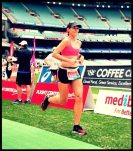 Final 200m of Melbourne marathon 2013-2