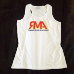 Racer Back White Race Singlet