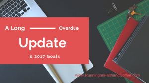 Long Overdue Update & 2017 Goals