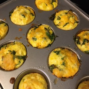 Kale and Egg Muffin Pan Bake | Meatless Monday | Running on Happy