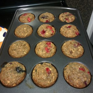 Cranberry Oat Muffin | Running on Happy