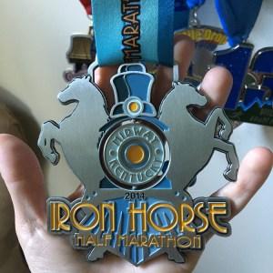 Iron Horse Half Marathon   Favorite Race Medal   Friday Five   Running on Happy