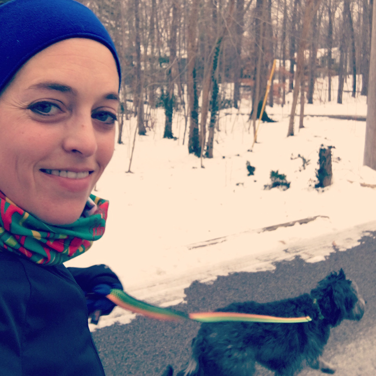 Running with the pup!