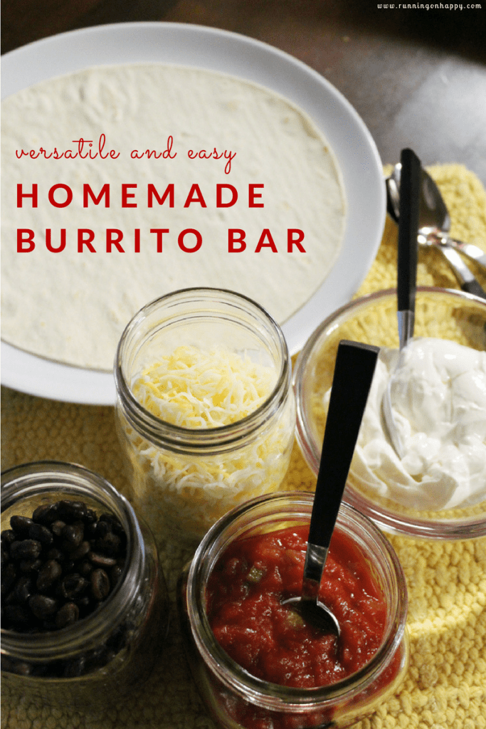 If you want a filling, vegetarian meal that pleases all palates, try creating an easy burrito bar! It's easy, delicious, versatile -- and fun for the whole family!
