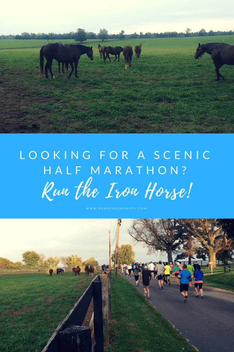 Join me for the Iron Horse Half! It's an amazing, fun, scenic half marathon. How often do you get to run with thoroughbreds by your side? (Plus a discount code!!!)